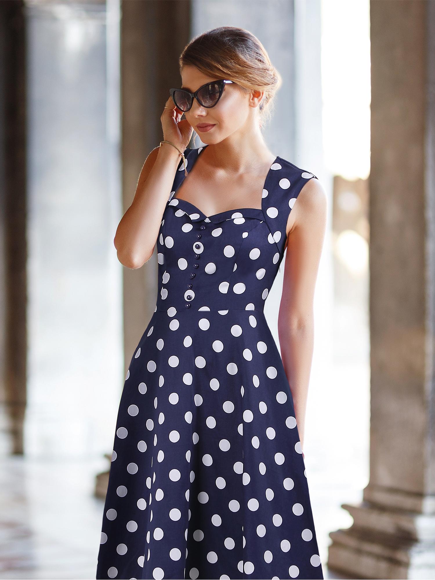 a1120d534d Dámské puntíkované šaty MARION modrá Dámské puntíkované šaty MARION modrá  empty