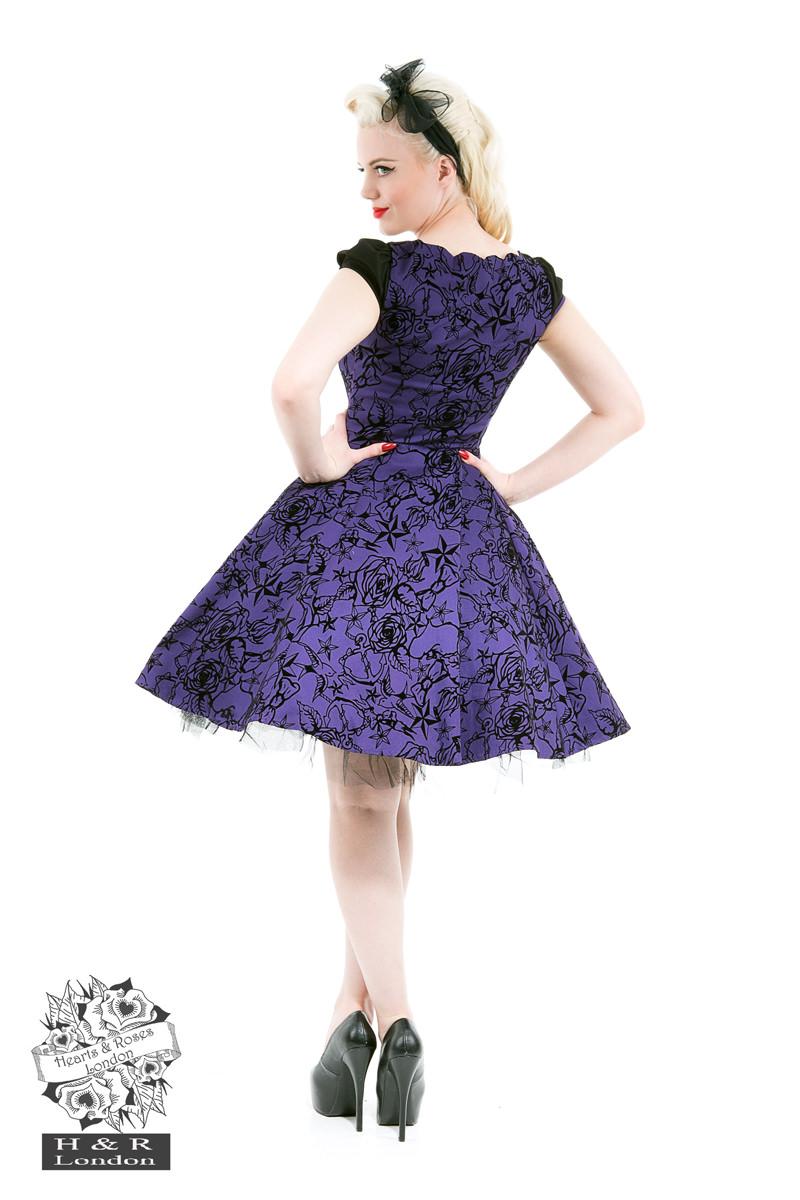 f4de1ecbadd Dámské RETRO šaty fialová Dámské RETRO šaty fialová empty
