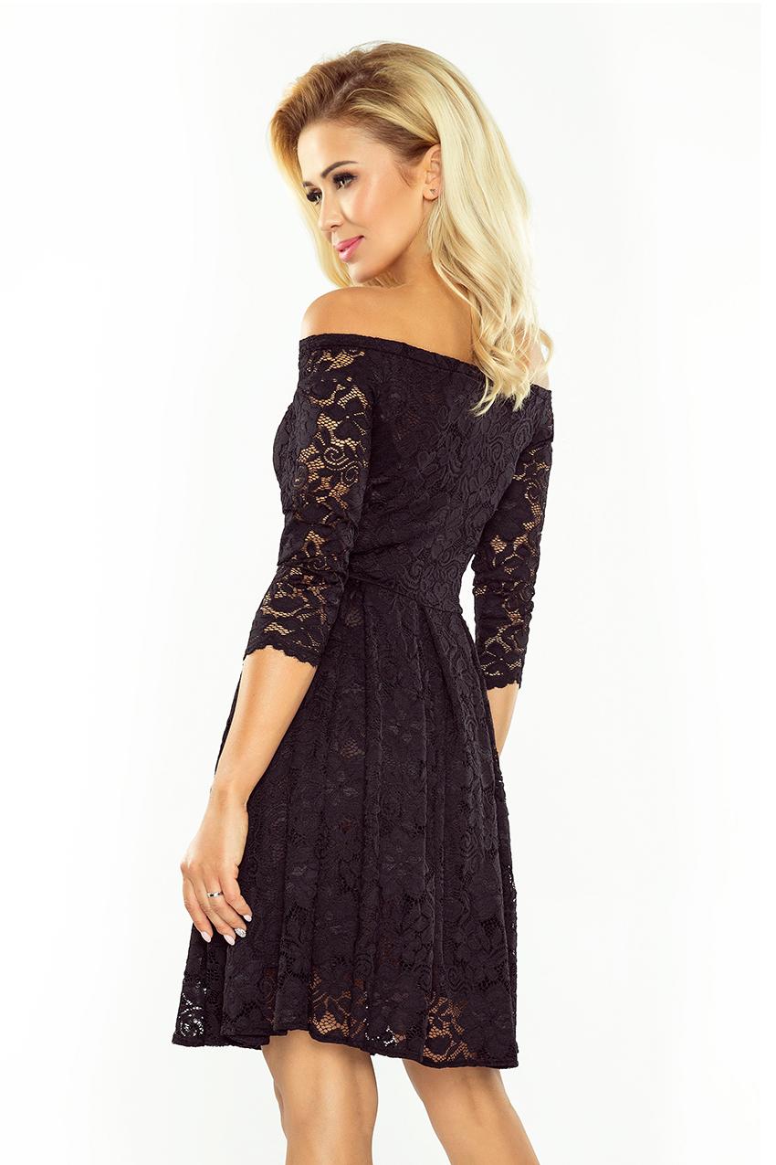 ffa08938315c ... Dámské krajkové šaty typu CARMEN Zn. NUMOCO® černá empty