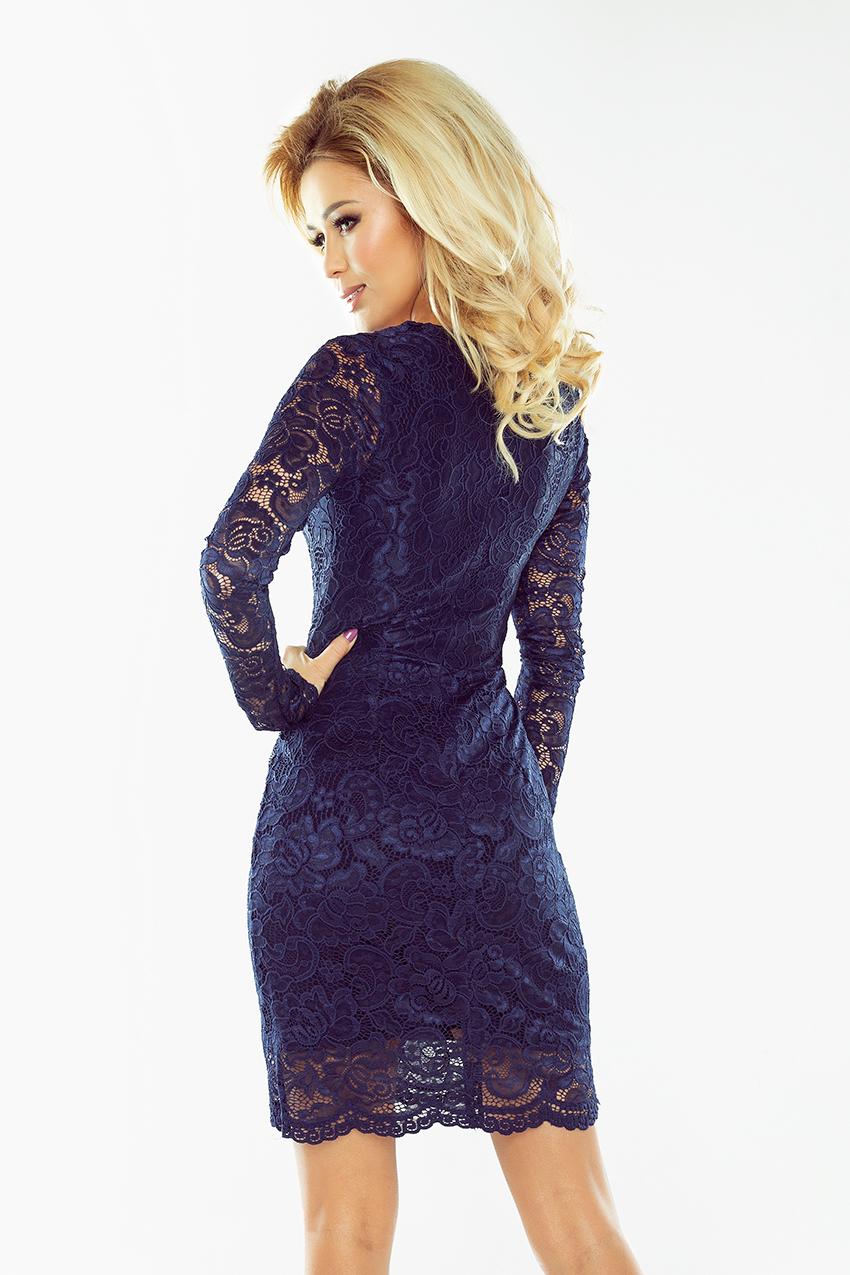 ... Dámské šaty krajkové s dlouhým rukávem NUMOCO® 170-2 modrá empty b6915d6769