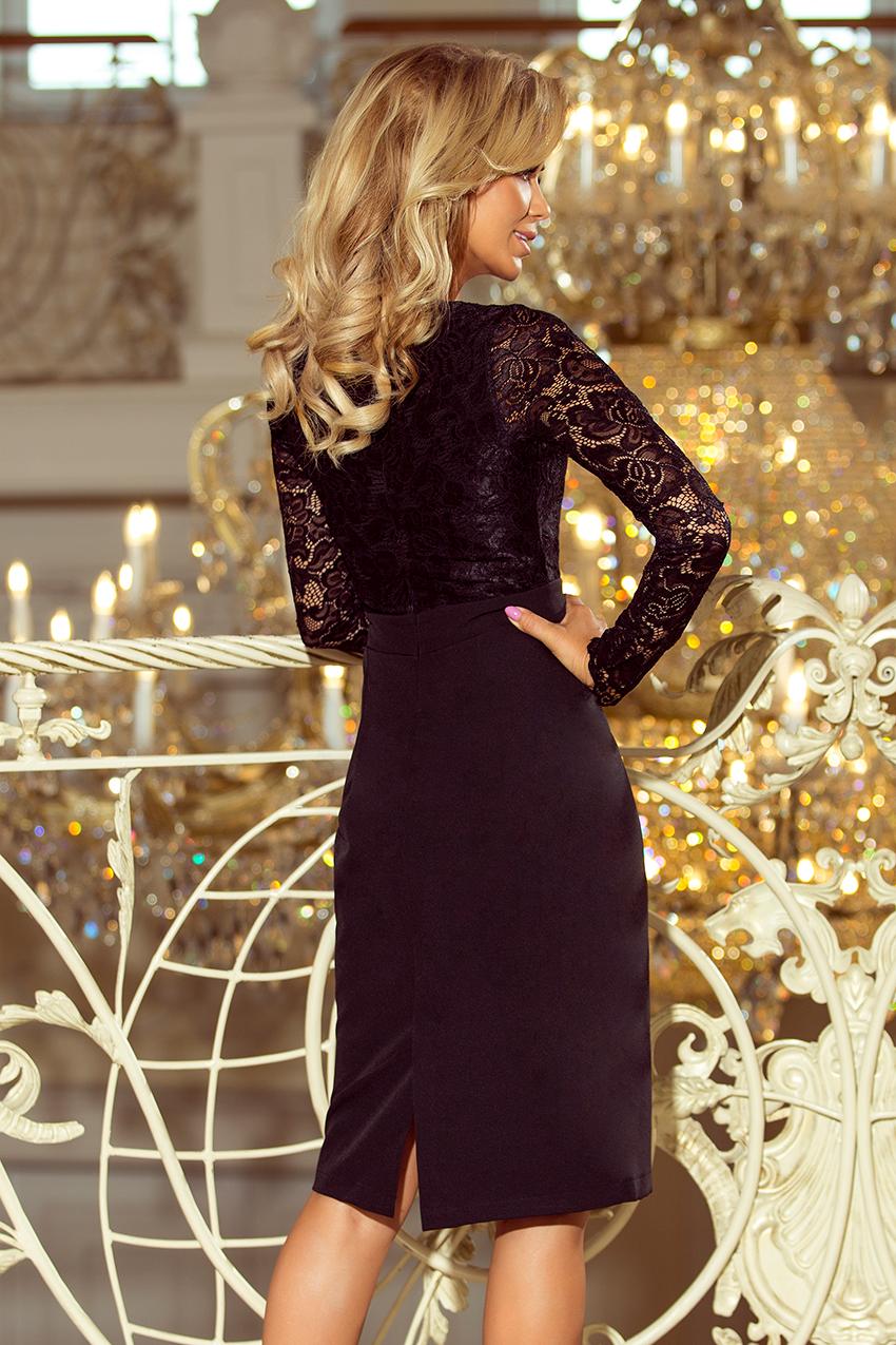 Dámské šaty s krajkovým dlouhým rukávem Dámské šaty s krajkovým dlouhým  rukávem empty 762dde80f9
