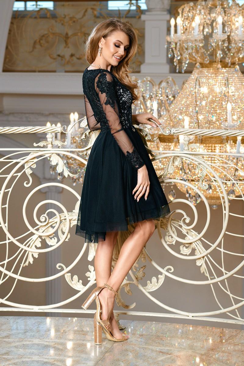 Dámské společenské krátké šaty JARI černá Dámské společenské krátké šaty  JARI černá empty 5088c6f4fc