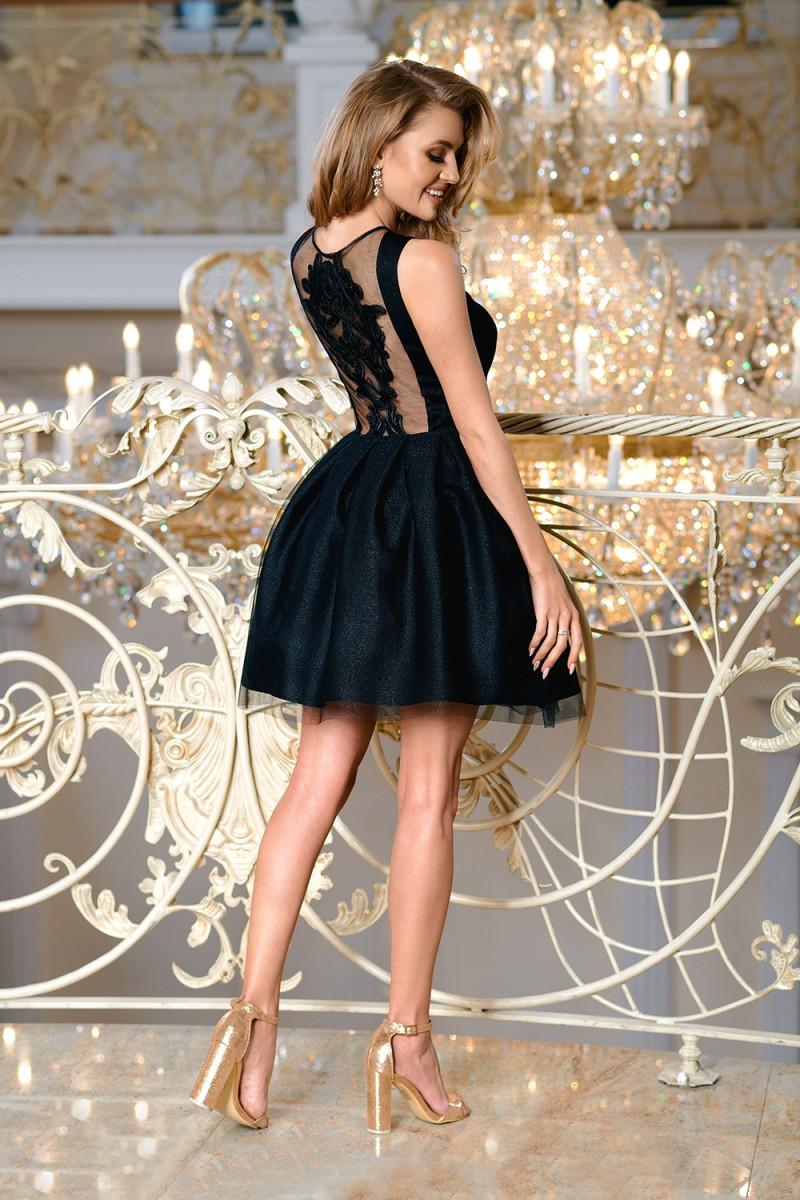 Dámské společenské krátké šaty KARI černá Dámské společenské krátké šaty  KARI černá empty 4d9747d317