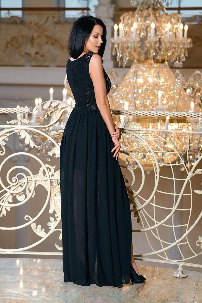 5cb638255754 Dámské společenské dlouhé šaty PASSI černá Dámské společenské dlouhé šaty  PASSI černá empty