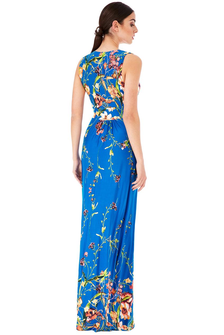 d966b26701e ... Dlouhé letní šaty s potiskem květů modrá empty