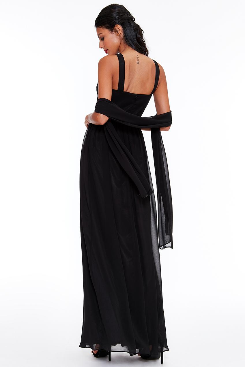 1bb278e6dd00 Dámské večerní dlouhé šaty MATTI černá Dámské večerní dlouhé šaty MATTI  černá empty
