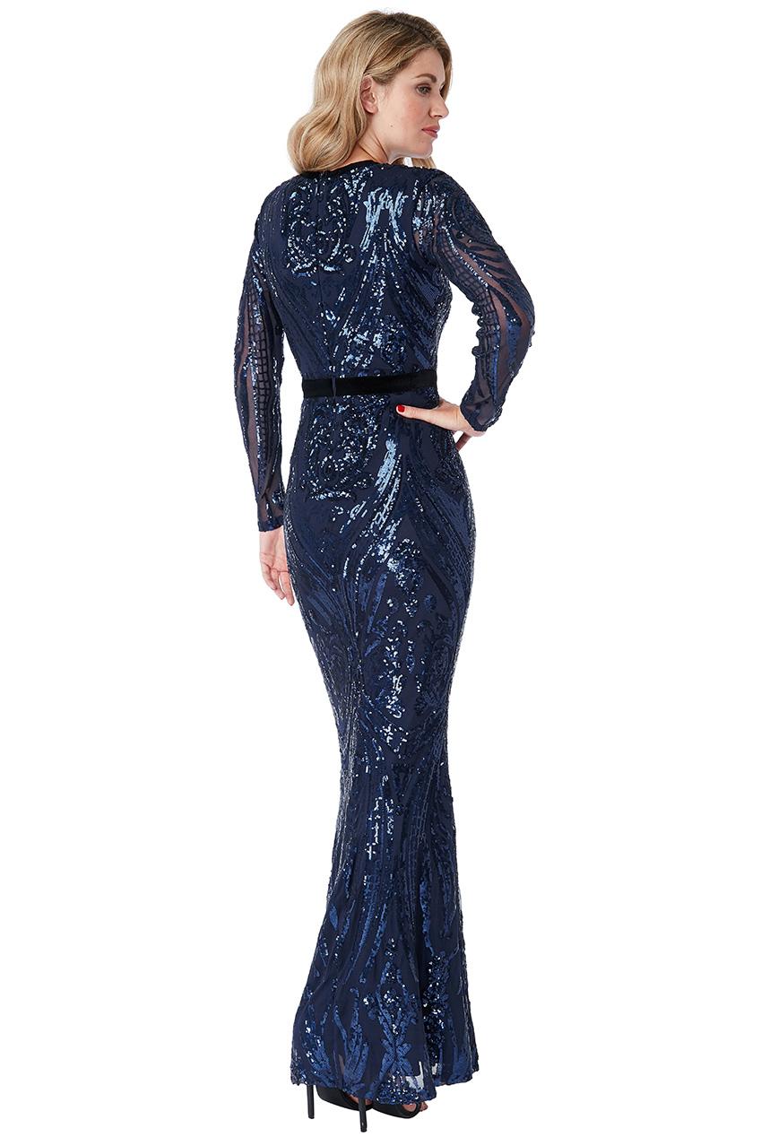 3e5fb66774f ... Luxusní večerní šaty MIKKA s flitry modrá empty