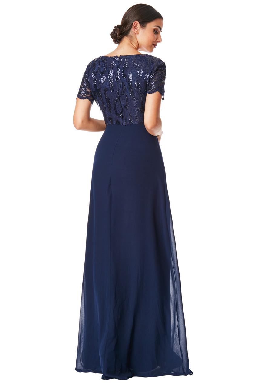 4f6ab97f3699 ... Plesové a společenské šaty Zn. GODDIVA modrá empty