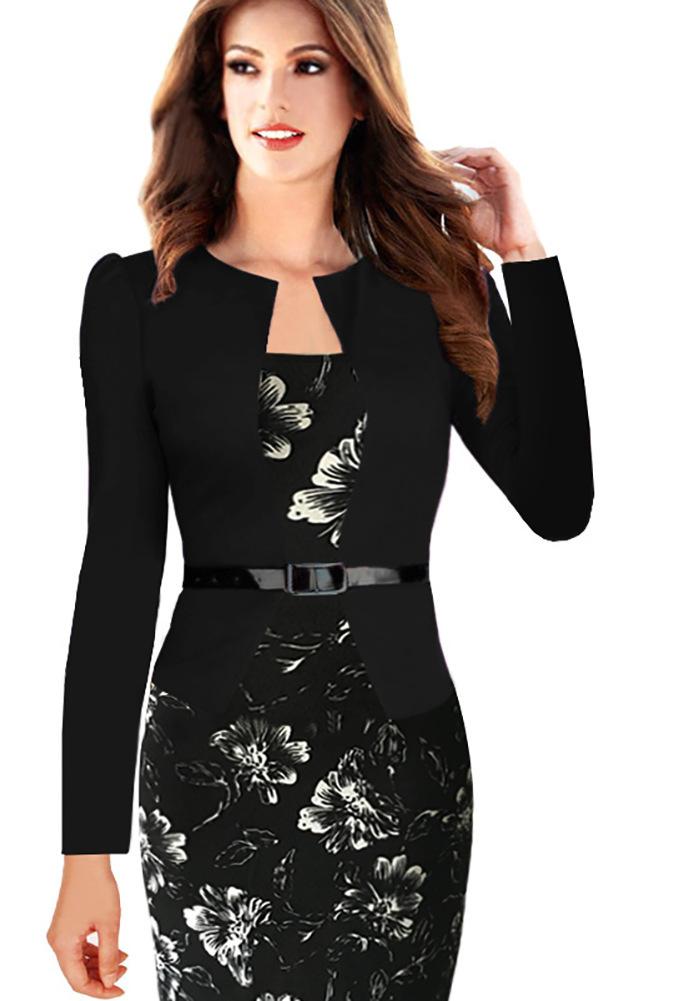 ... Pouzdrové midi šaty 2 v 1 černá empty 58b2b363a57
