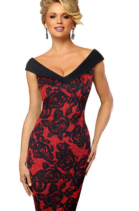 Dámské šaty typu CARMEN červená Dámské šaty typu CARMEN červená empty 924945b679