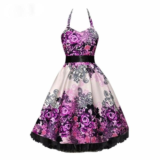 7e21028430ce Dámské RETRO šaty s mašlí