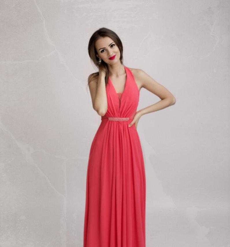 816e15a446 ... Dámské plesové a společenské dlouhé šaty ELORA růžová empty