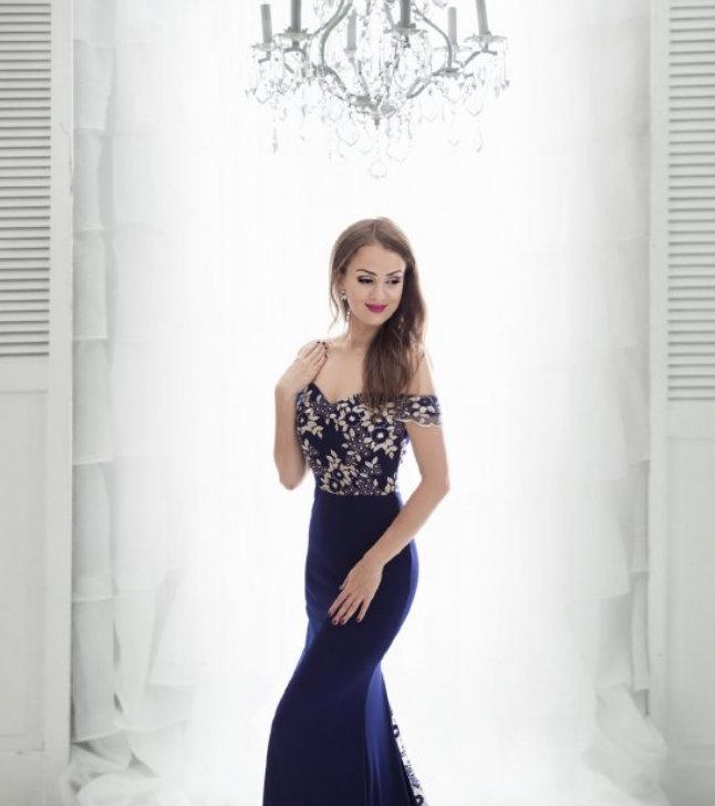 Dámské společenské dlouhé šaty Caly modrá Dámské společenské dlouhé šaty  Caly modrá empty 850e6c6829