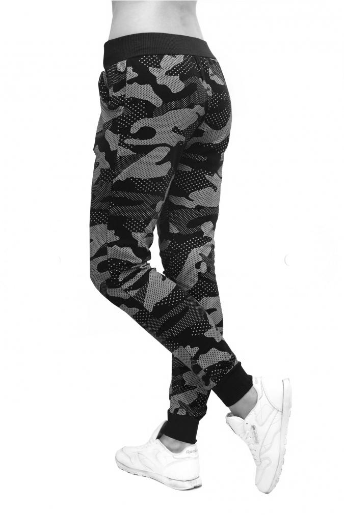 5f7779dbf16f Dámské tepláky vzor army Dámské tepláky vzor army empty