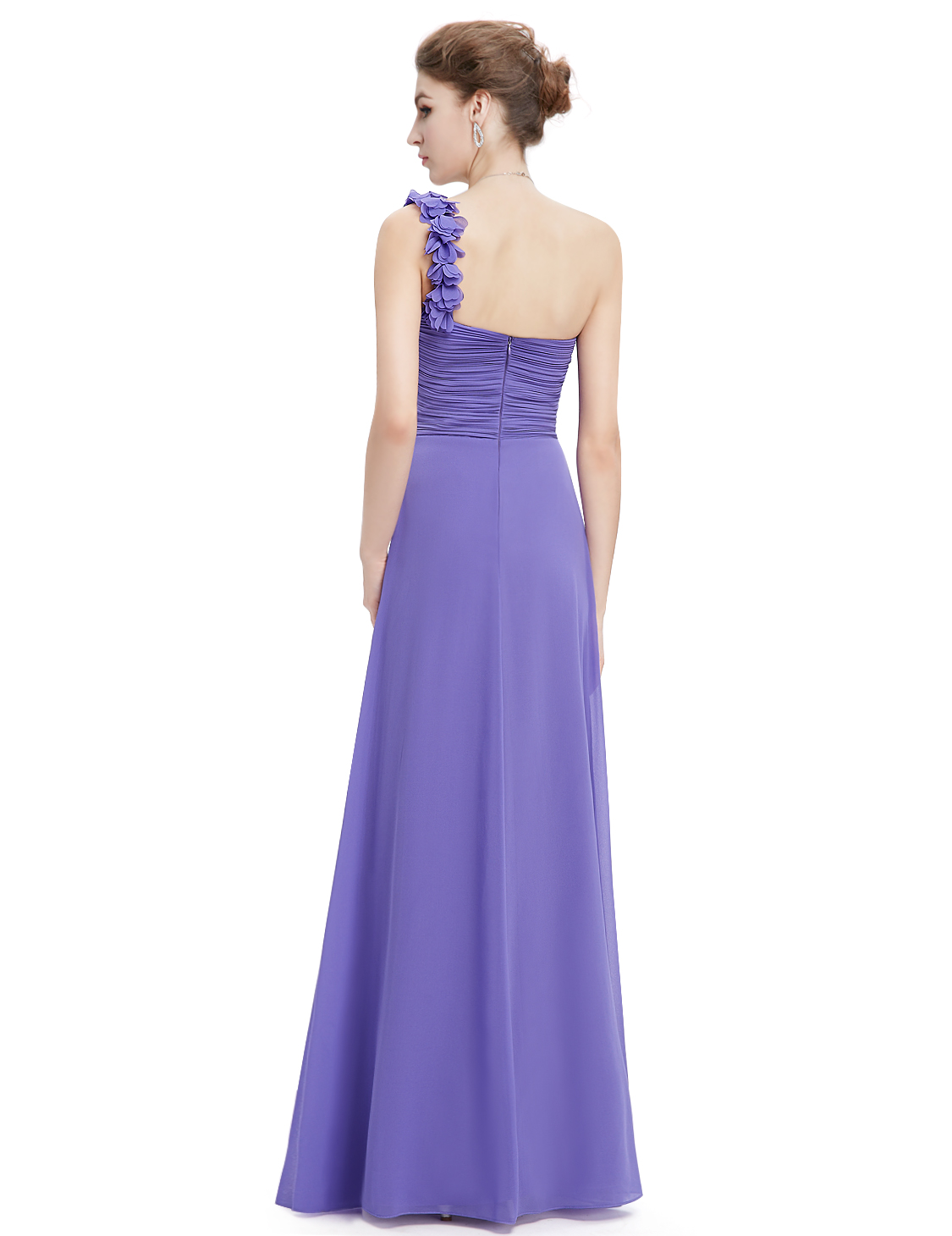 ... Ever Pretty plesové dlouhé šaty na jedno rameno fialová empty 1d15193bf00