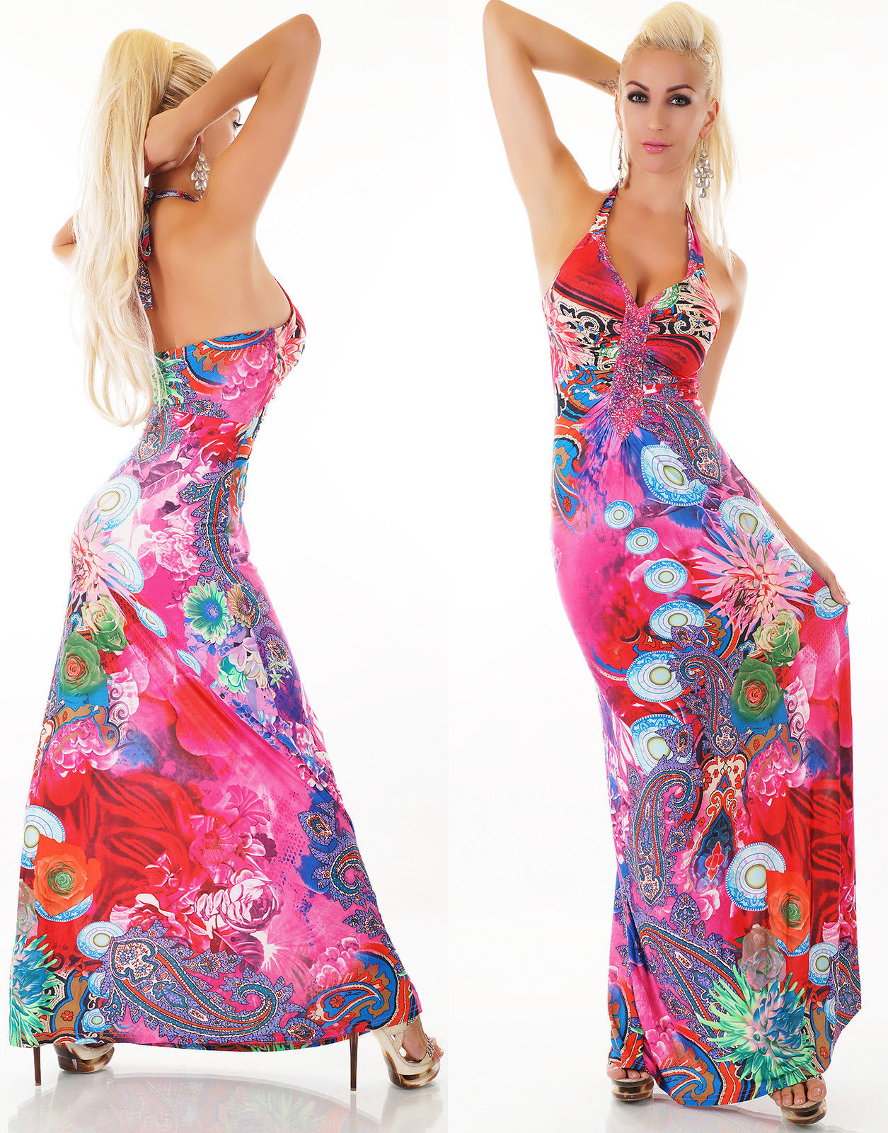 eb4fa5280fb Dámské šaty dlouhé F GIRL růžová Dámské šaty dlouhé F GIRL růžová empty