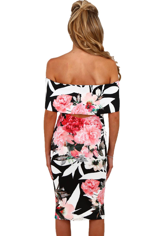 Dámské šaty s květinovým potiskem černá Dámské šaty s květinovým potiskem  černá empty 3bb211dfbe7