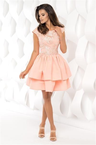 ... Koktejlové krátké šaty s dvojitou sukní coral empty 40fc955cb90
