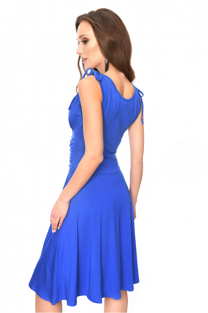8059c3deb5cc ... Dámské šaty ELIANE s vázáním na ramenou modrá empty