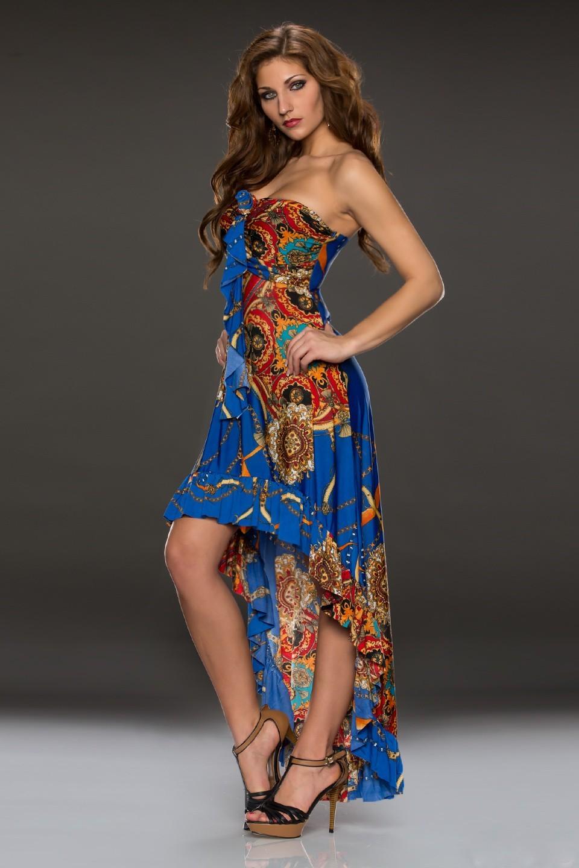Dlouhé letní šaty Flam Mode 2. jakost (Dámské šaty)