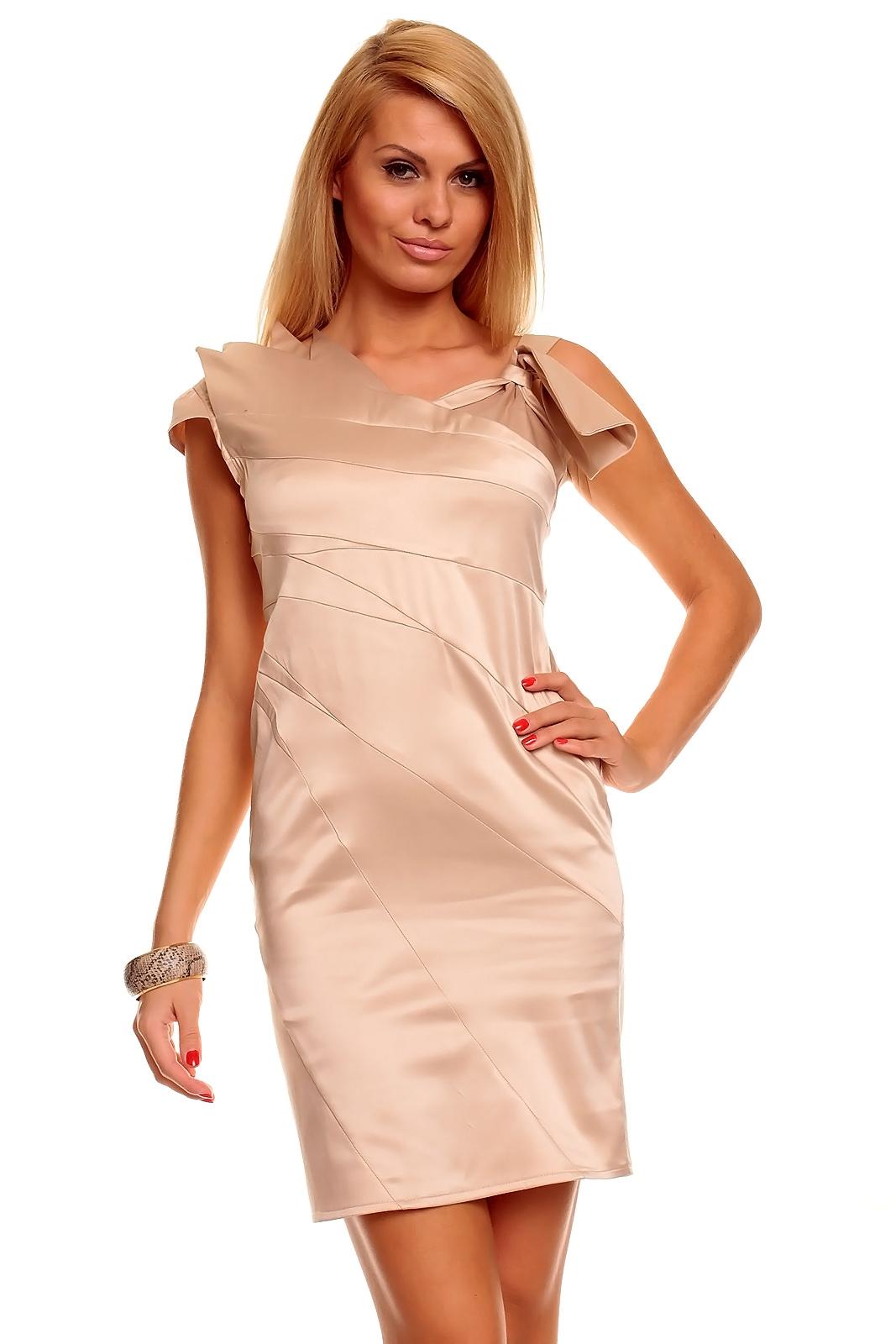 bc0f8ed98e1 Dámské elegantní šaty Mayaadi - béžové