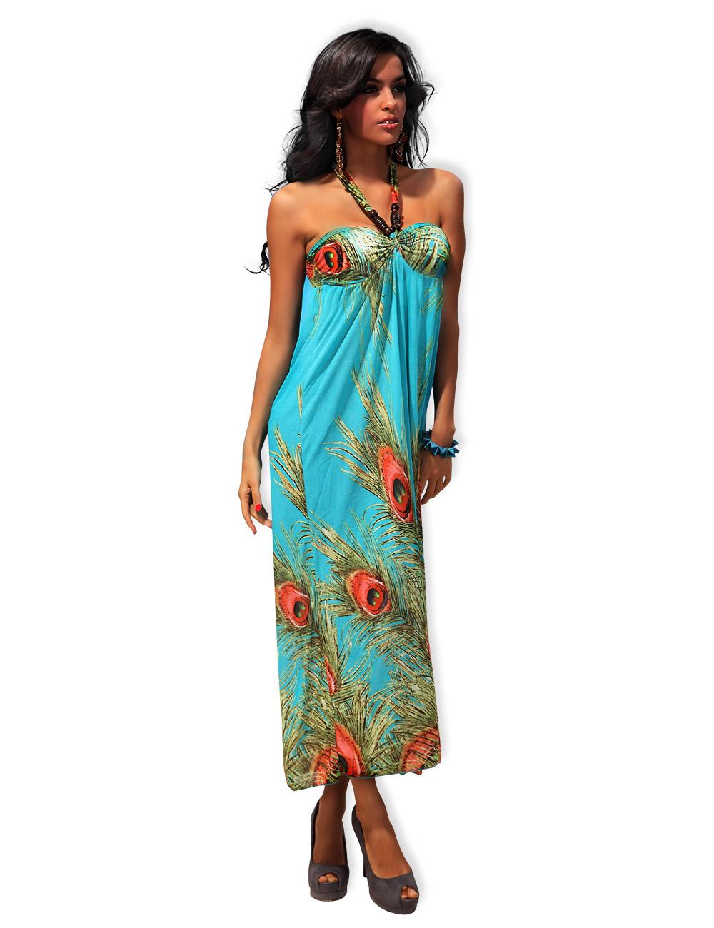 Dámské letní maxi šaty 95488a73b9