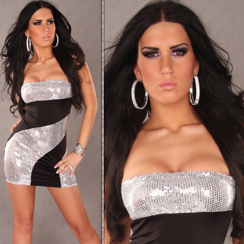 Dámské minišaty/tunika černá (Dámské šaty)