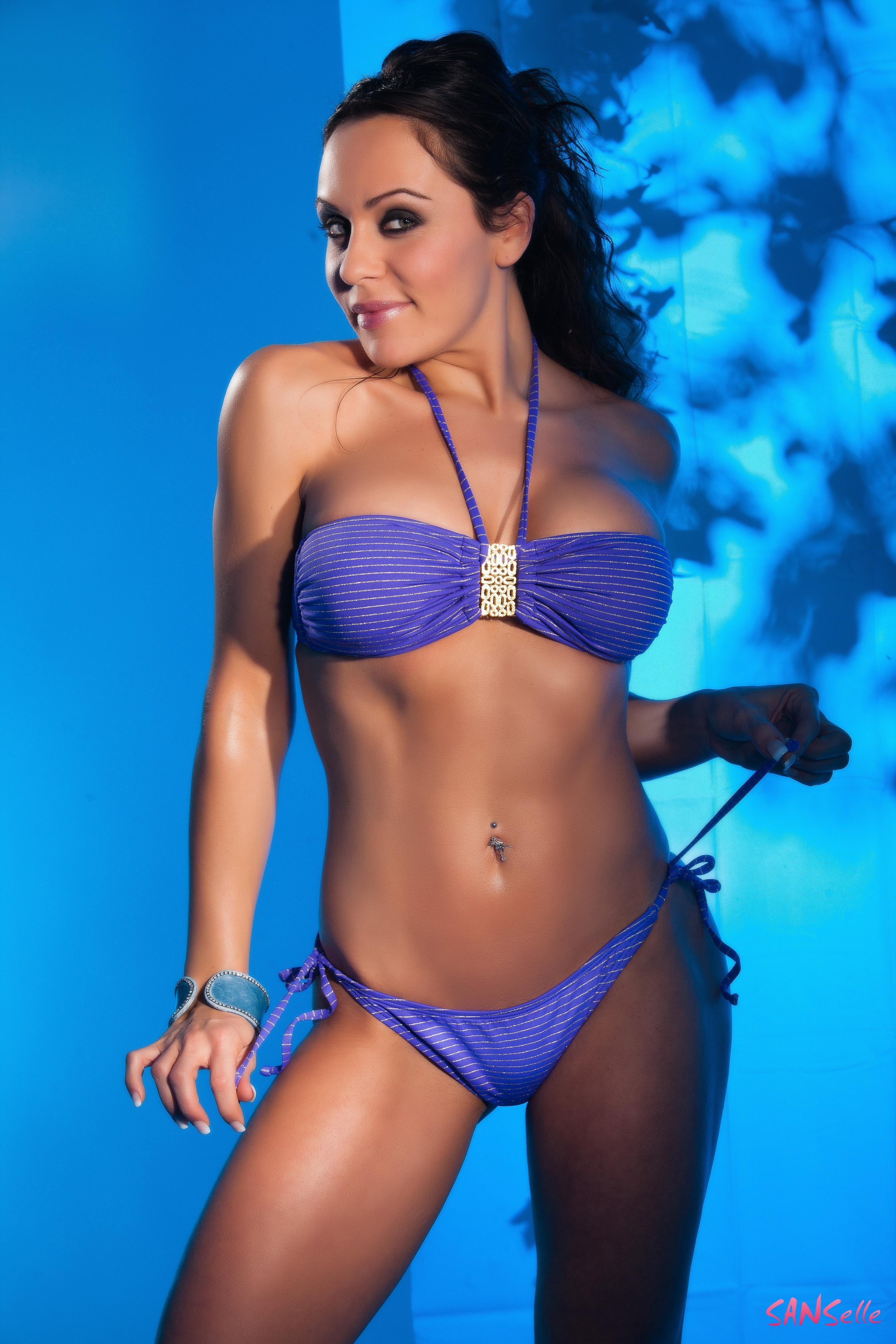 Dámské plavky SANSelle fialová (Dámské plavky)