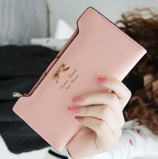 Dámská růžová peněženka (Dámská peněženka)