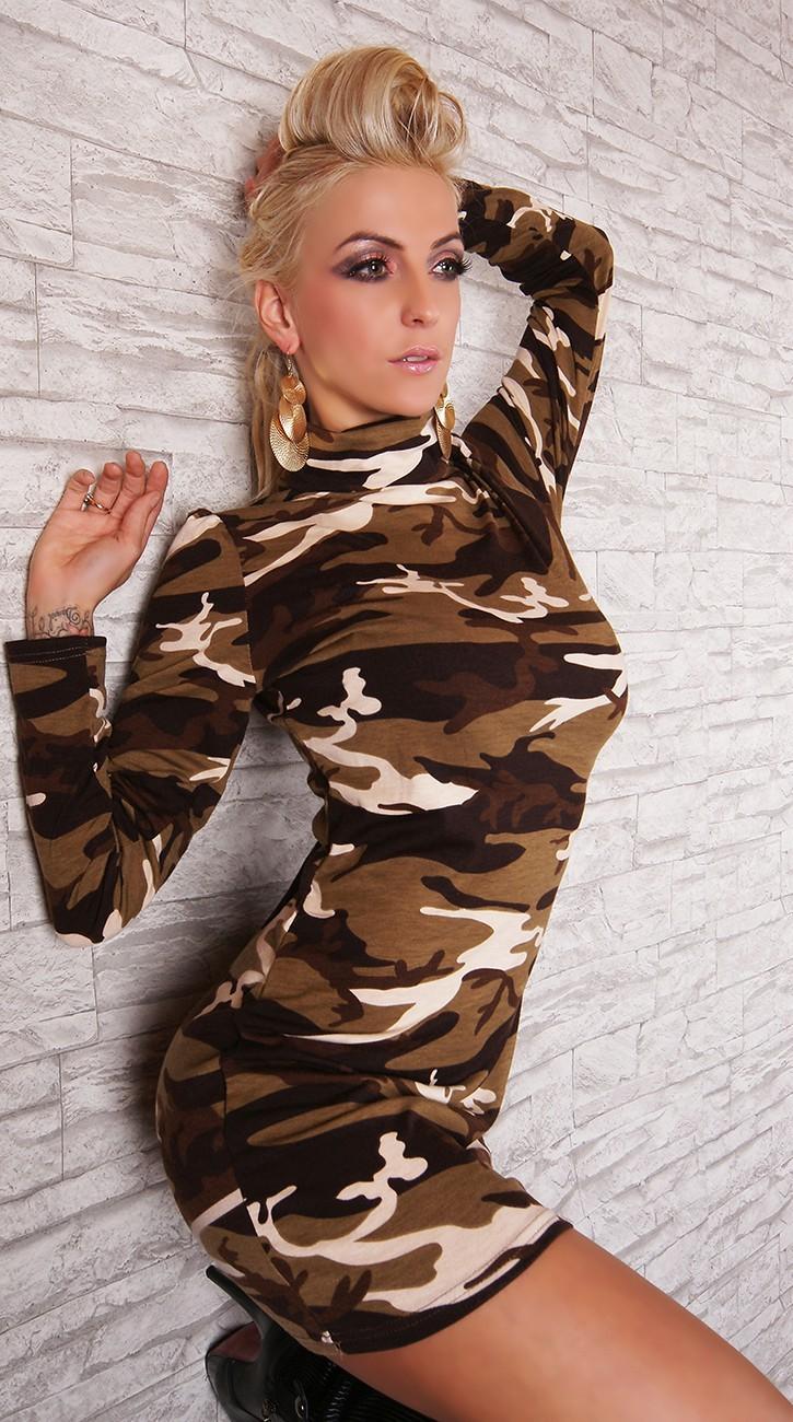 2af8a8216a02 Maskáčové mini šaty