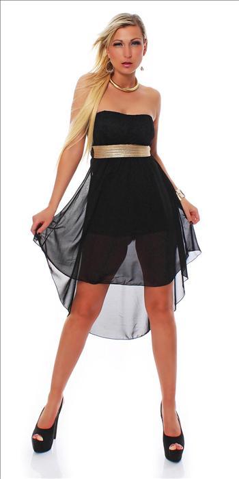 Dámské společenské šaty 573 černé S / M (Dámské šaty )