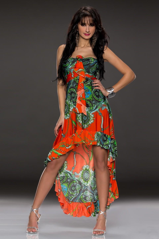 4be7358b9cd Dlouhé letní šaty Flam Mode - oranžové