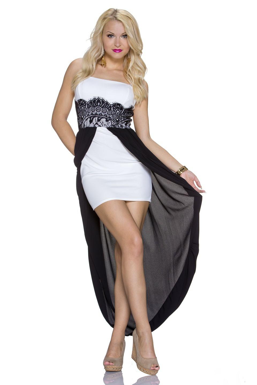 Dámské společenské šaty 944 bílé (Dámské šaty)