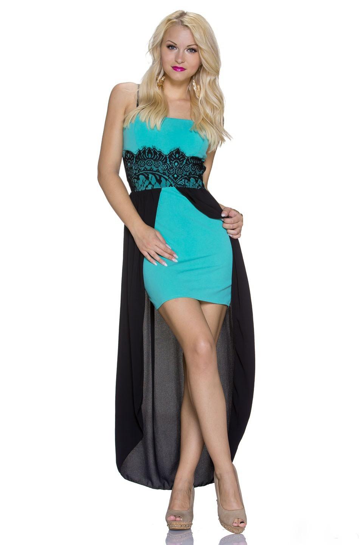 Dámské společenské šaty 945 zelené (Dámské šaty)