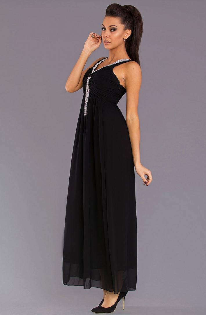 85c675f27db Společenské šaty dlouhé 1178 černá