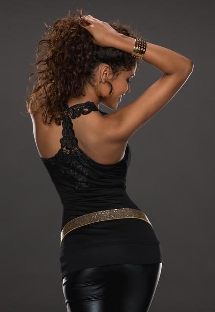 Sexy dámský top - černý (Dámský top)