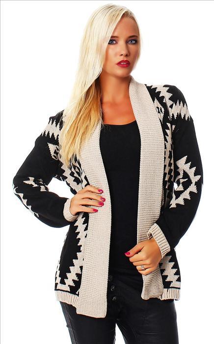 Luxusní pletený svetr kardigan b730f13eb0