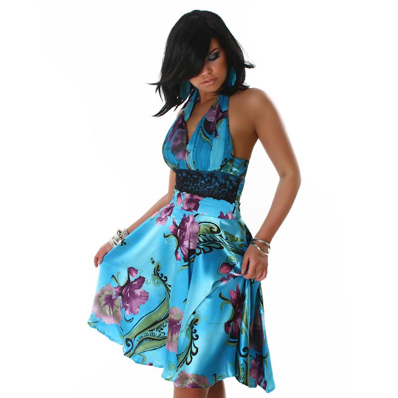 Letní barevné šaty Jela London modrá 3042daf1f8