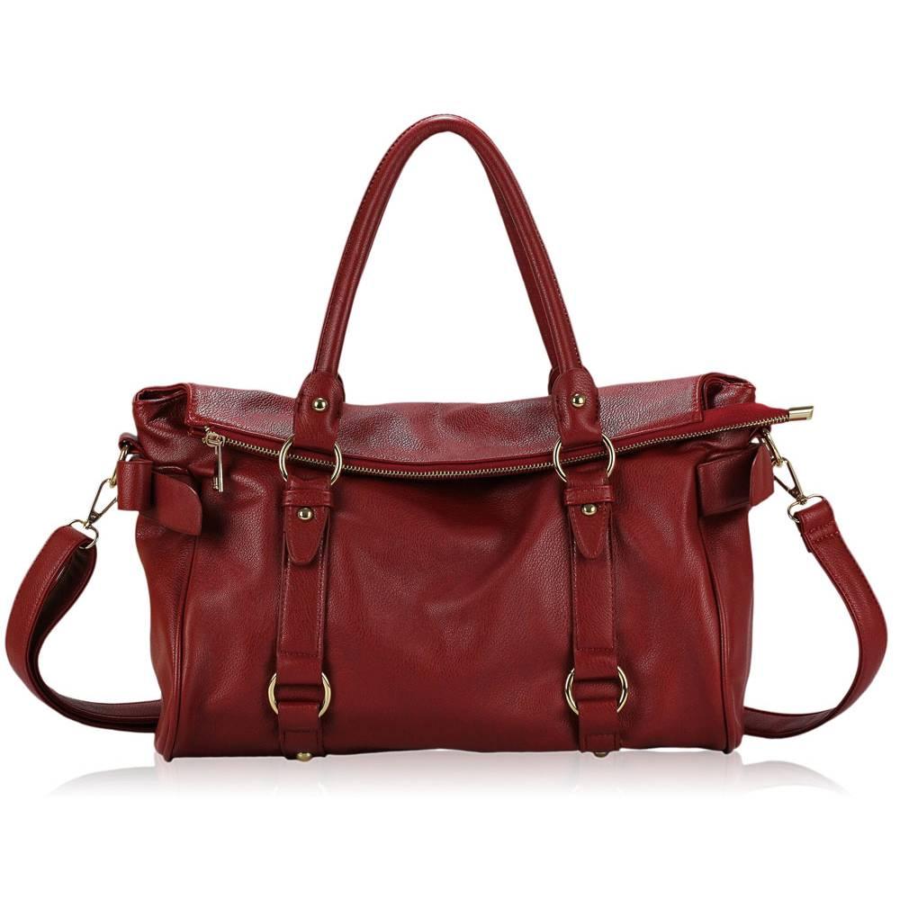 1305a0d9e578 LS fashion dámská kabelka přes rameno LS00276 červená