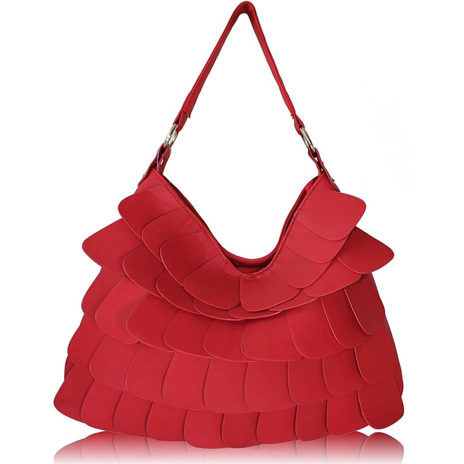 e1d0f6894160 LS fashion dámská kabelka LS00236 červená