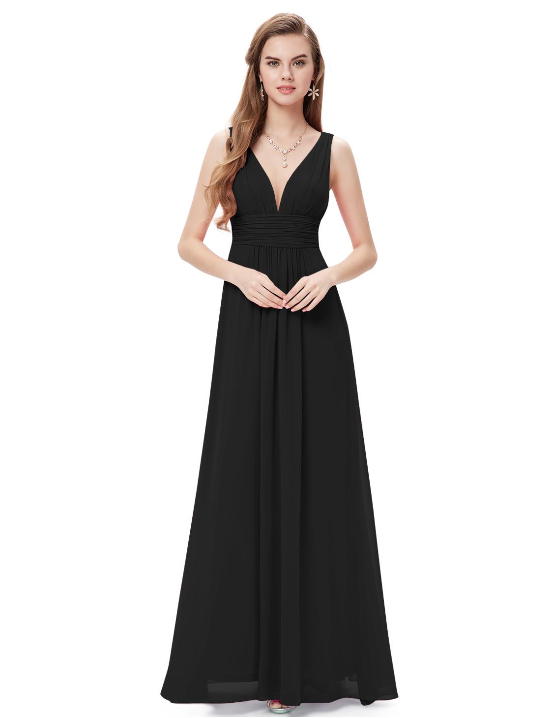 Ever Pretty plesové dlouhé šaty 9016 černá (Dámské šaty)