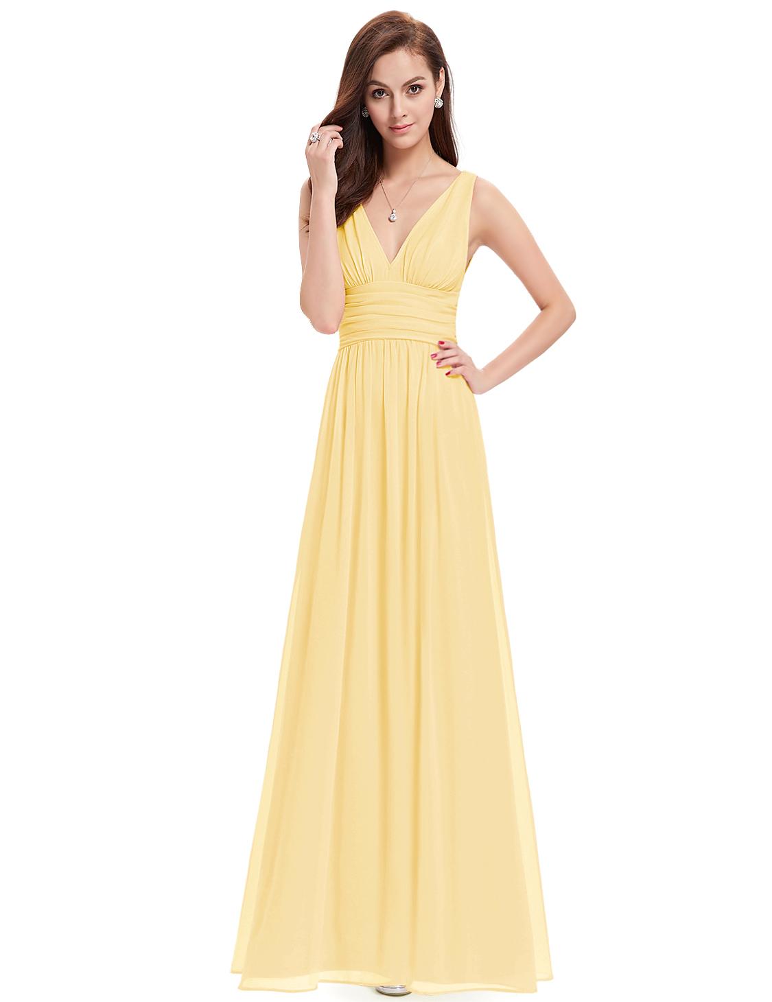 Ever Pretty plesové dlouhé šaty 9016 žlutá (Dámské šaty)