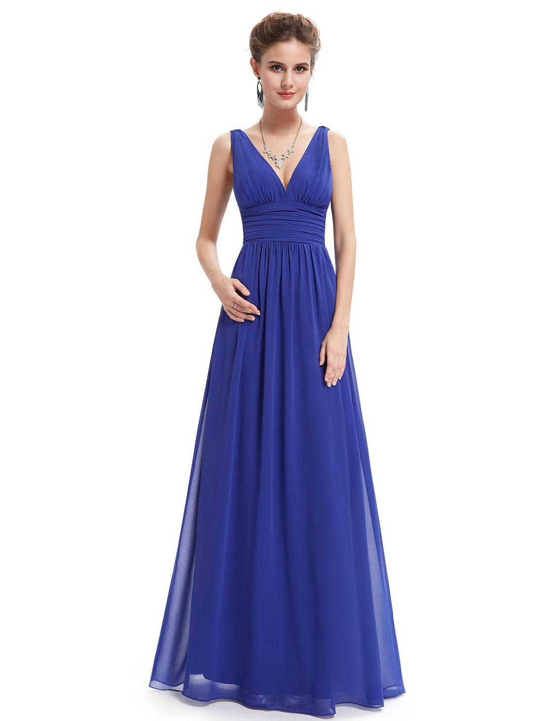 Ever Pretty plesové dlouhé šaty 9016 modrá (Dámské šaty)