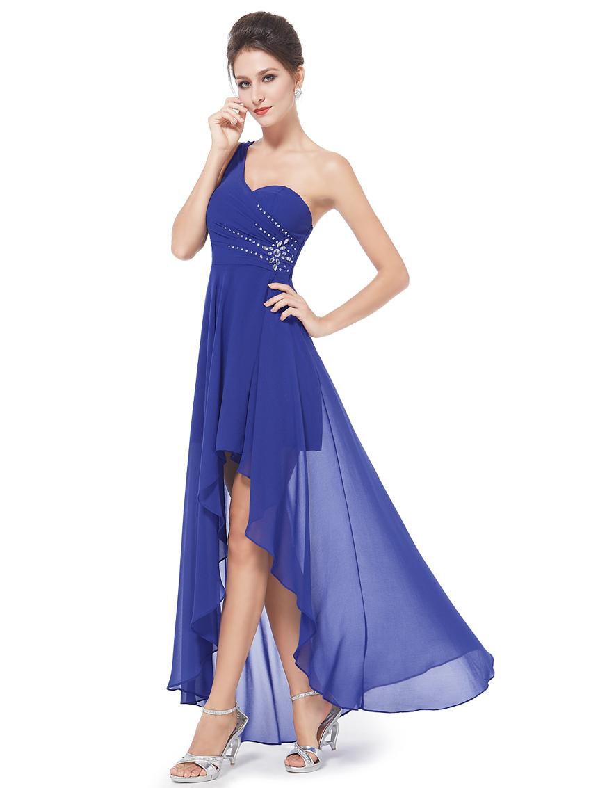 Ever Pretty plesové šaty s korálky 8100 modrá (Dámské šaty)