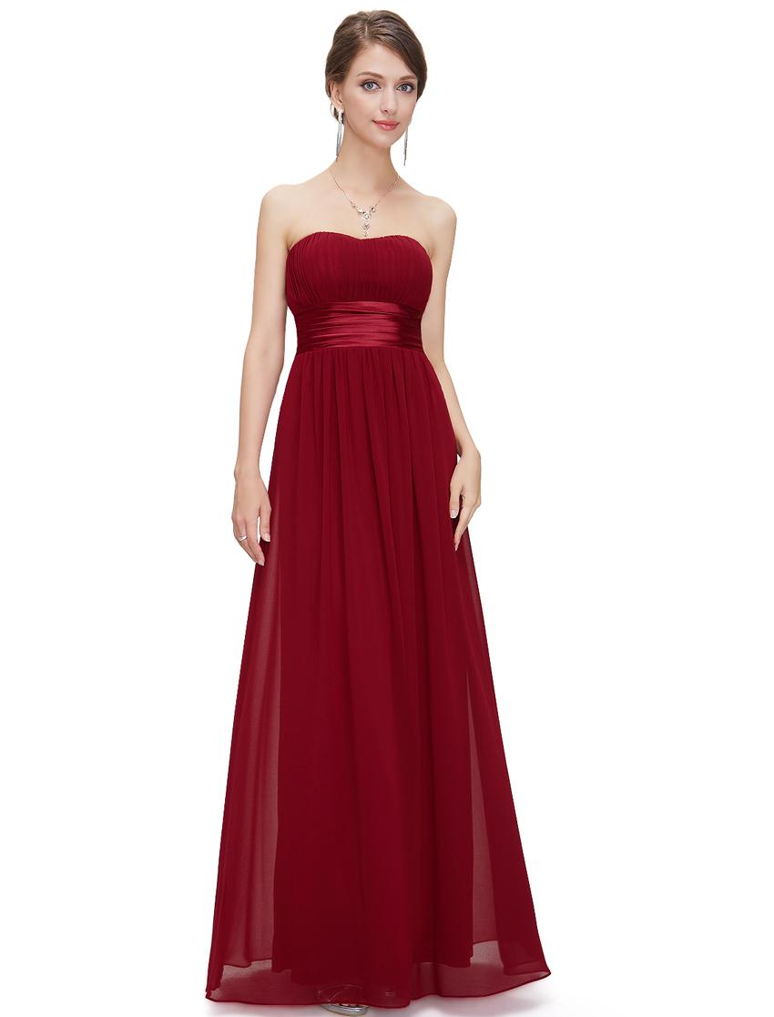 Ever Pretty plesové dlouhé šaty 9955 bordó (Dámské šaty)