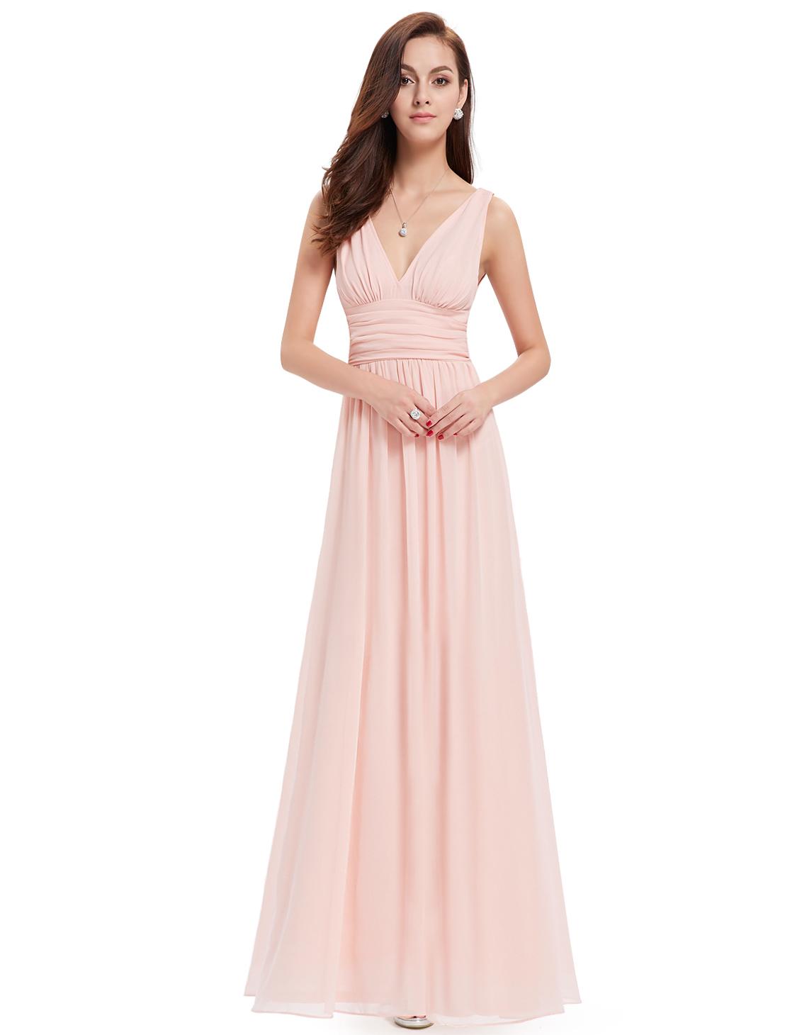 Ever Pretty plesové dlouhé šaty růžová (Dámské šaty)