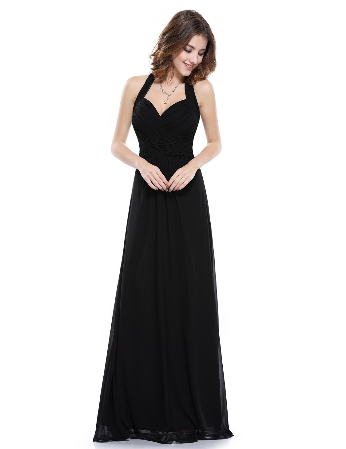 Ever Pretty plesové a společenské dlouhé šaty 35EVHE08487BK06 XS (Dámské šaty)