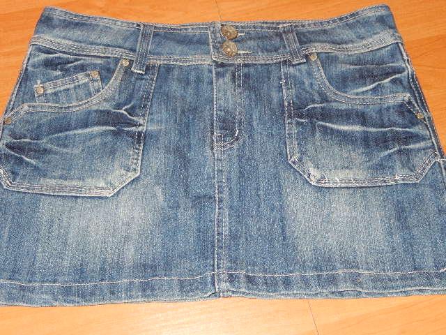 Džínová sukně modrá vel. XL 2687fcaa22