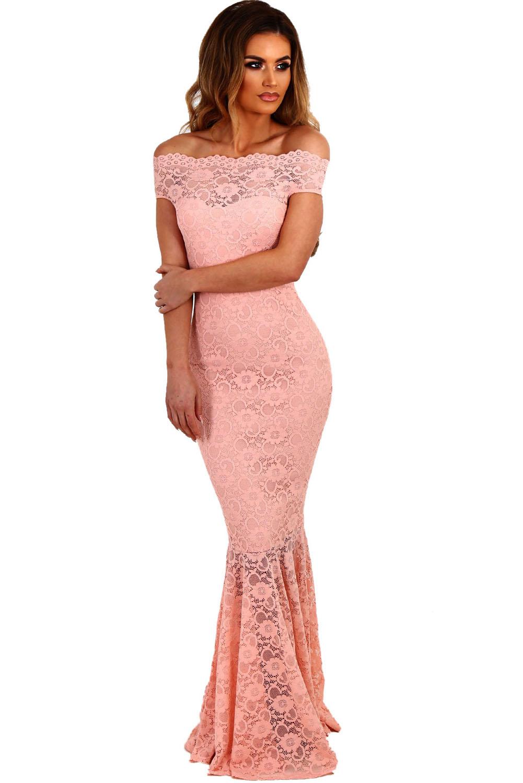 Společenské krajkové šaty růžová 66fad14f81