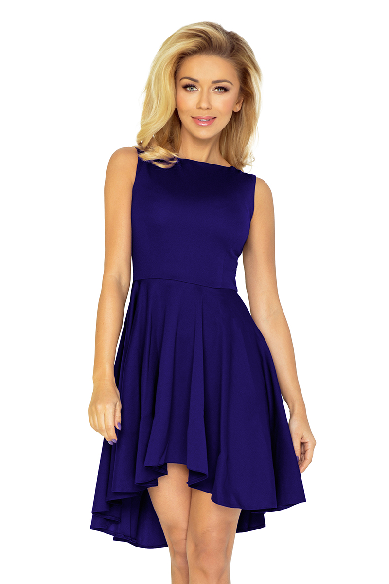 b9b53f84637a Dámské šaty s asymetrickou sukní NUMOCO 33-5 modrá